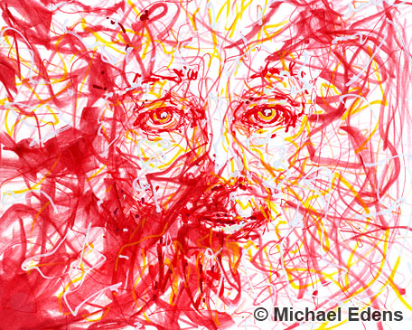 abstract-red-face